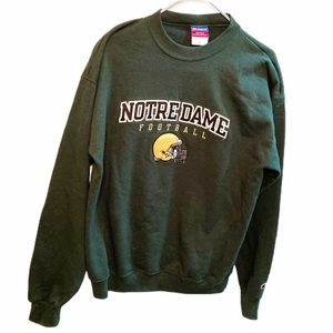 Notre Dame Football Mens Large Green Sweatshirt